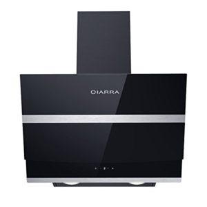 Ciarra Cappa aspirante 60 cm 750 m  hcappa da cucina in acciaio inox con prolunga camino e comandi touch controlneroClasse A