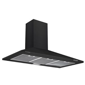 Ciarra cappa con aspiratore da cucina 90cm in acciaio INOX nero