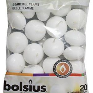 Bolsius Candele galleggianti Decorative Cera Bianco 45cm w X 3cm h 20 unit